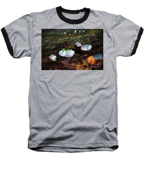 Baseball T-Shirt featuring the photograph Natures Ruffles - Cascade Wi by Mary Machare