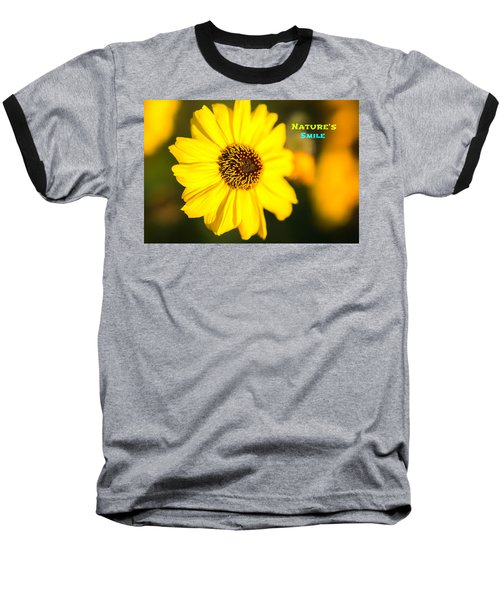 Nature's Smile  Baseball T-Shirt by Joseph S Giacalone