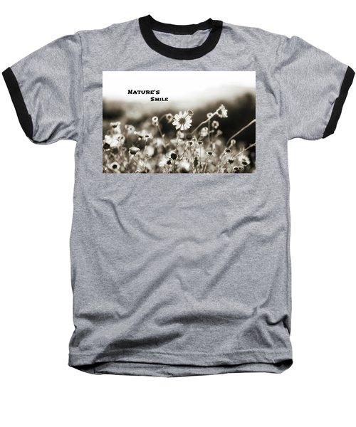 Nature's  Smile Monochrome Baseball T-Shirt