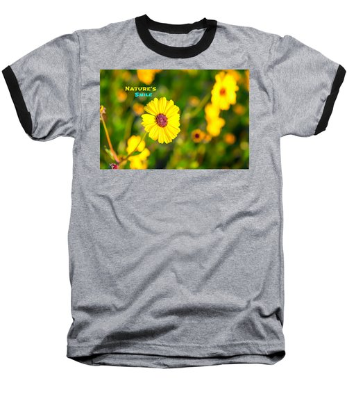 Nature's Smile Series Baseball T-Shirt by Joseph S Giacalone
