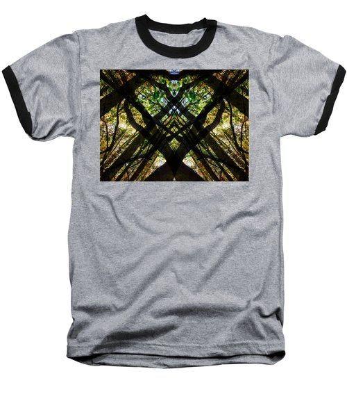 Natures Stain Glass Baseball T-Shirt