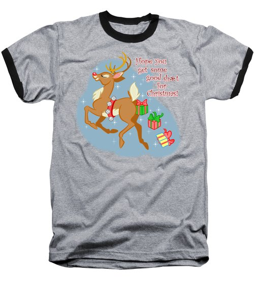 Naughty Reindeer Baseball T-Shirt