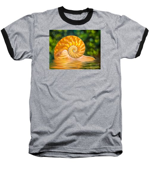 Nautilus Shell Submerged In Water Baseball T-Shirt