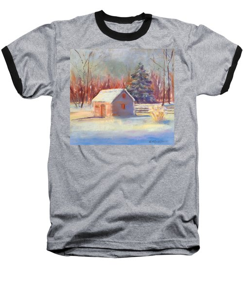 Nauvoo Winter Scene Baseball T-Shirt