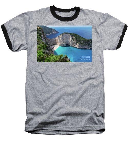 Navagio Beach Baseball T-Shirt
