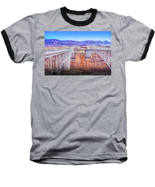 Navajo Bridge Baseball T-Shirt by Mark Dunton