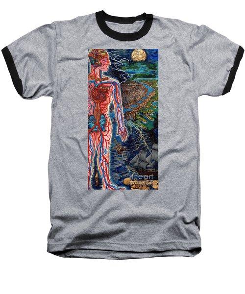 Navigation Baseball T-Shirt by Emily McLaughlin