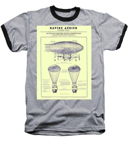 Navire Aerien Baseball T-Shirt