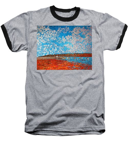 Navy Island And Market Wharf St. Andrews, Nb View From Water Street Baseball T-Shirt