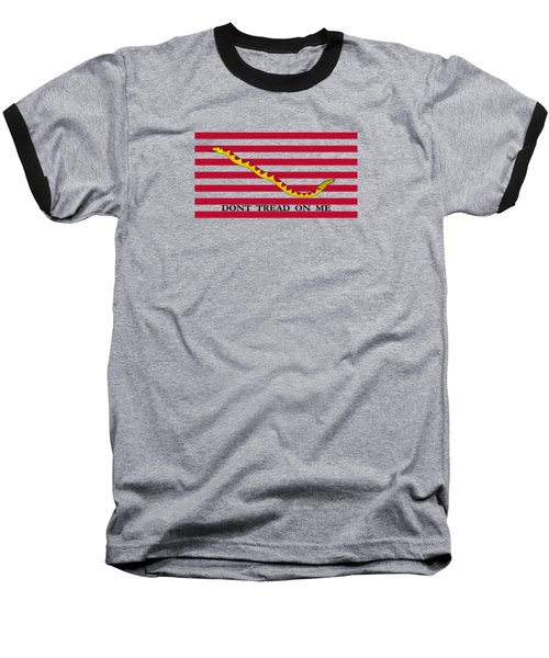 Navy Jack Flag - Don't Tread On Me Baseball T-Shirt