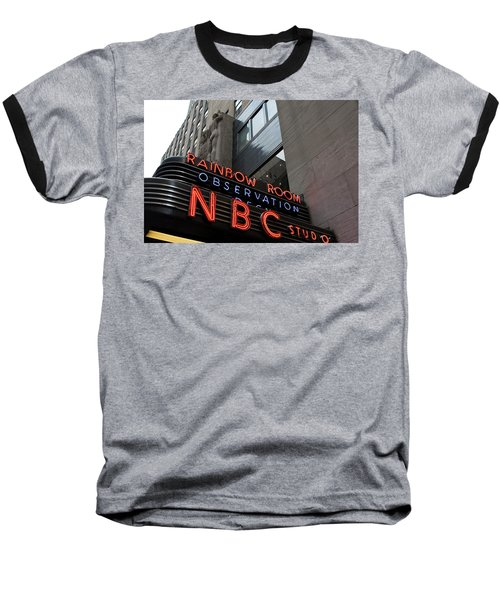 Nbc Studio Rainbow Room Sign Baseball T-Shirt