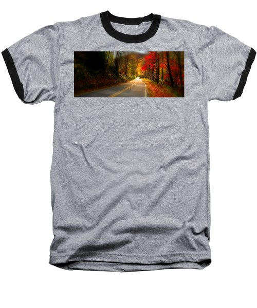Nc Mountain Fall Drive Baseball T-Shirt