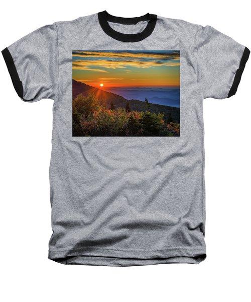 Nc Mountain Sunrise Blue Ridge Mountains Baseball T-Shirt