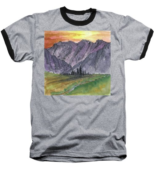 Near Canyon Entrance Baseball T-Shirt by R Kyllo