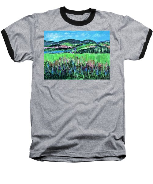 Baseball T-Shirt featuring the painting Near Cooperstown by Betty Pieper