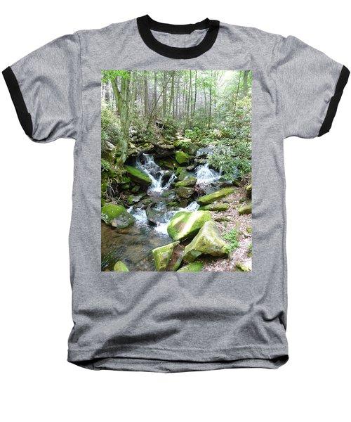 Near The Grotto Baseball T-Shirt by Joel Deutsch
