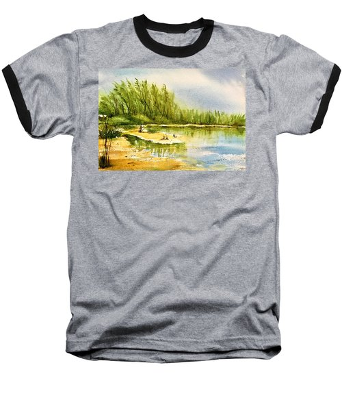 Near The Lake 4 Baseball T-Shirt