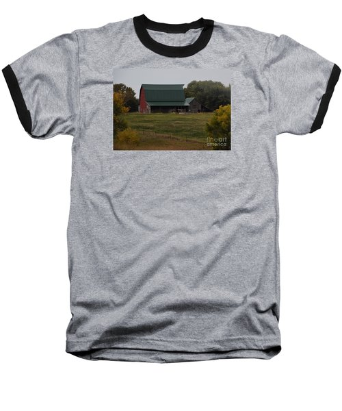 Baseball T-Shirt featuring the photograph Nebraska Barn by Mark McReynolds