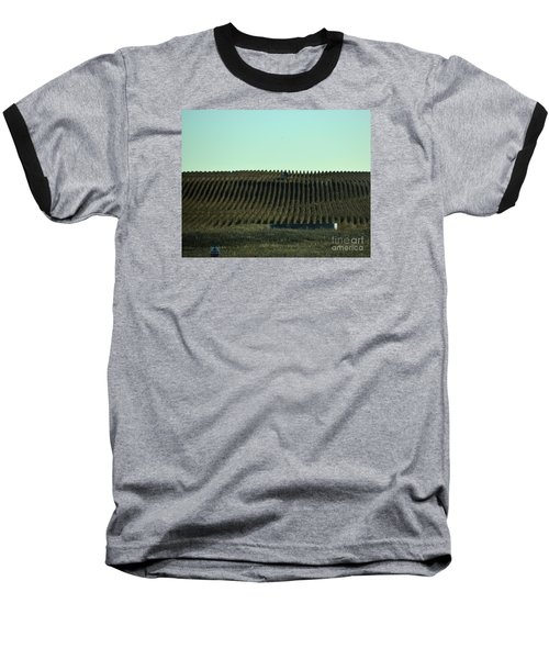 Baseball T-Shirt featuring the photograph Nebraska Corn Rows by Mark McReynolds