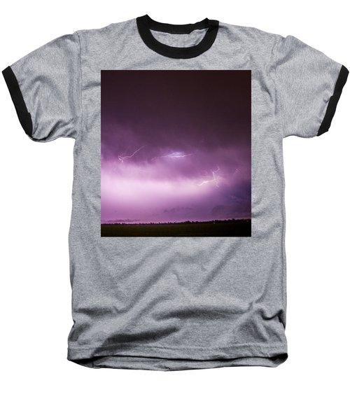 Nebraska Night Thunderstorms 013 Baseball T-Shirt