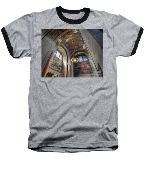 Baseball T-Shirt featuring the photograph Nebraska State Capitol by Art Whitton