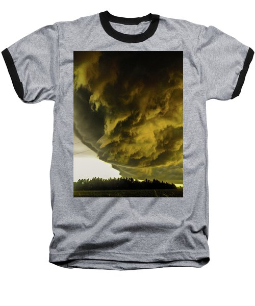 Nebraska Supercell, Arcus, Shelf Cloud, Remastered 018 Baseball T-Shirt