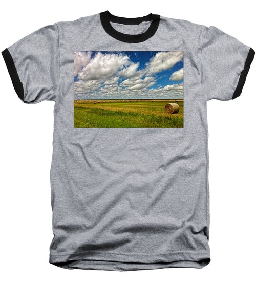 Nebraska Wheat Fields Baseball T-Shirt