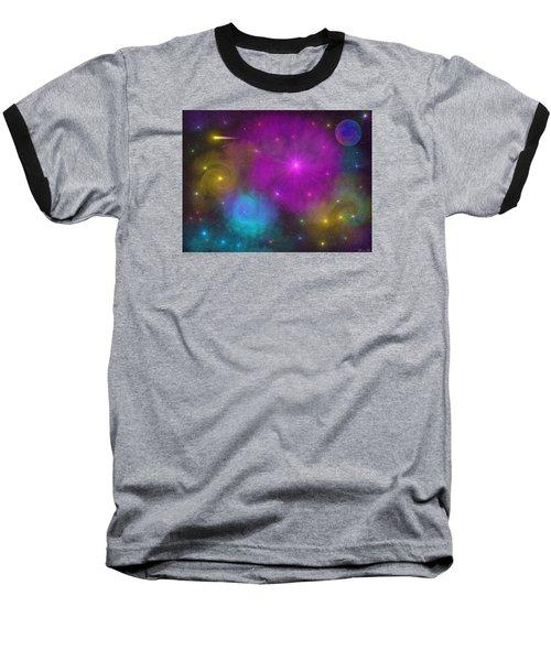 Baseball T-Shirt featuring the photograph Nebula Wars by Bernd Hau