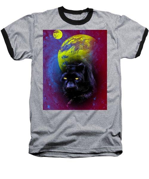Nebula's Panther Baseball T-Shirt by Swank Photography