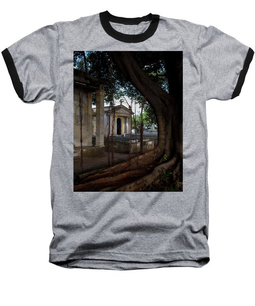 Baseball T-Shirt featuring the photograph Necropolis Cristobal Colon Havana Cuba Cemetery by Charles Harden