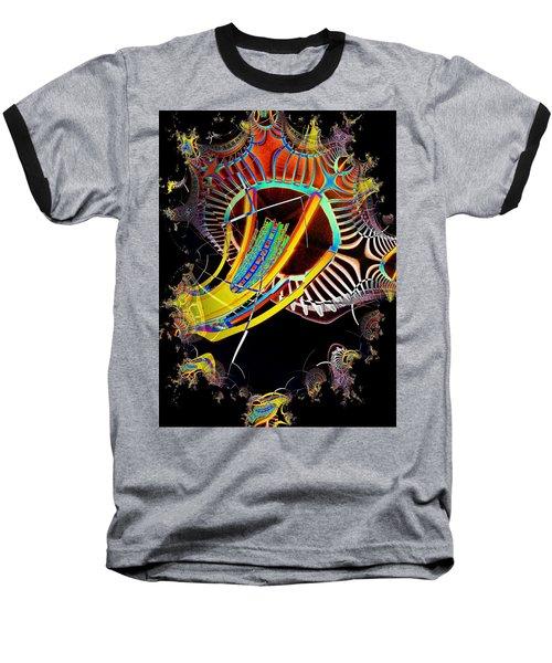 Needle In Fractal 2 Baseball T-Shirt by Tim Allen