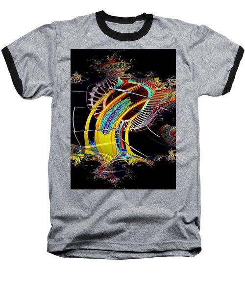 Needle In Fractal 4 Baseball T-Shirt by Tim Allen
