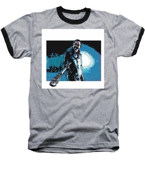 Baseball T-Shirt featuring the digital art Negan by Antonio Romero