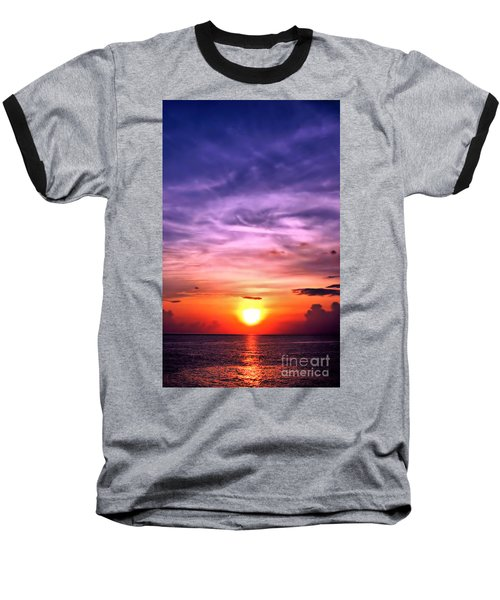 Negril Sunset Baseball T-Shirt