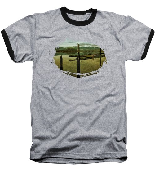 Nehalem Bay Reflections Baseball T-Shirt by Thom Zehrfeld