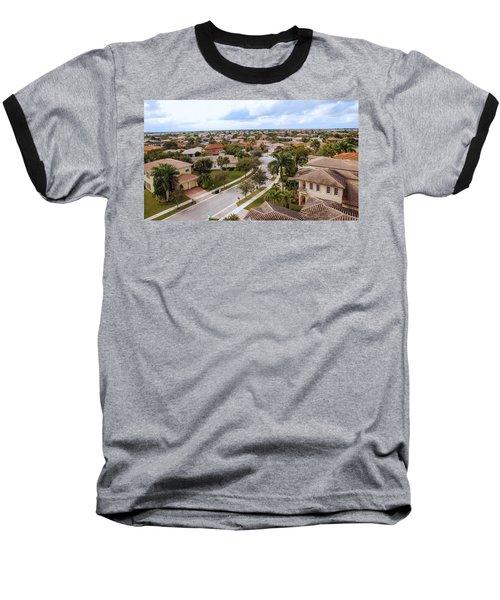 Neighborhood Aerial Baseball T-Shirt