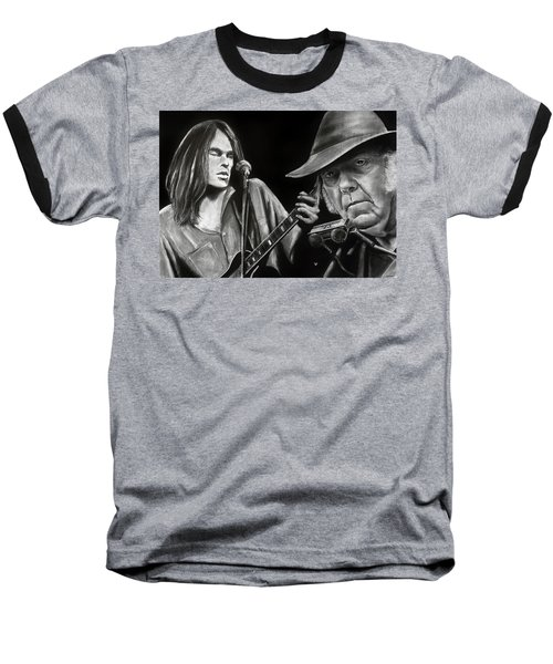 Neil Young And Neil Old Baseball T-Shirt