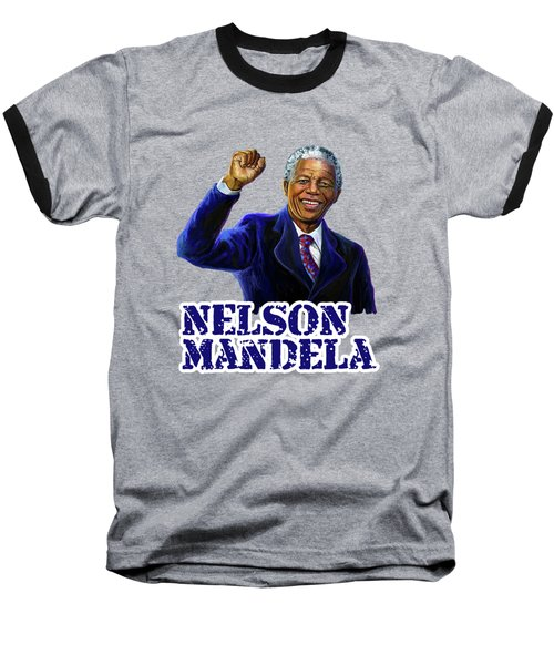 Nelson Mandela Baseball T-Shirt