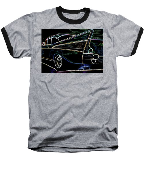 Neon 57 Chevy Bel Air Baseball T-Shirt
