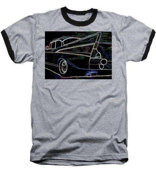 Neon 57 Chevy Bel Air Baseball T-Shirt