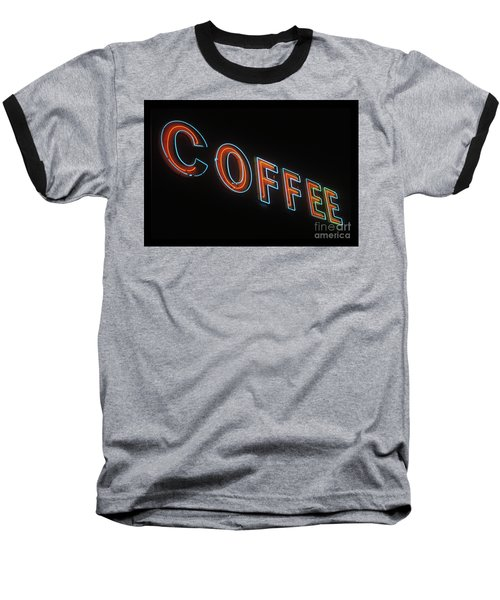 Neon Coffee Baseball T-Shirt by Jim and Emily Bush