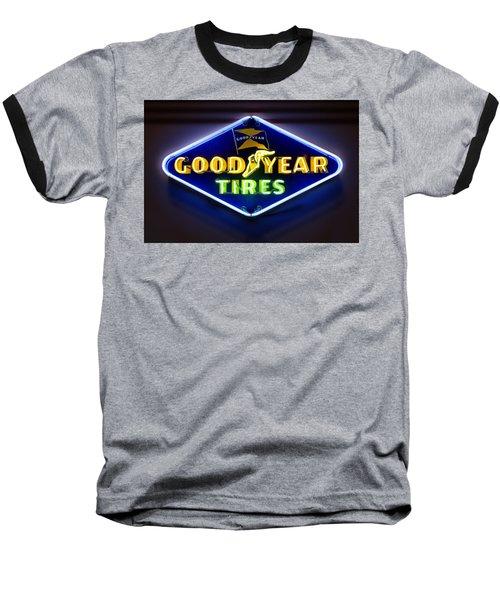 Neon Goodyear Tires Sign Baseball T-Shirt