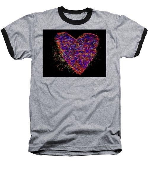 Neon Heart Baseball T-Shirt