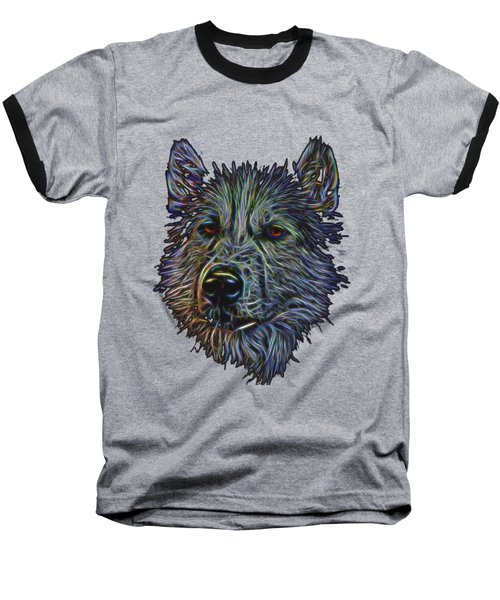 Baseball T-Shirt featuring the photograph Neon Husky by Brian Cross