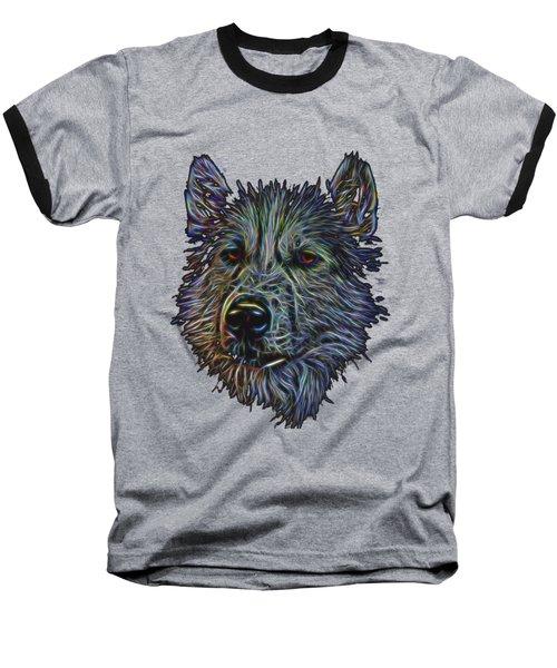 Neon Husky Baseball T-Shirt by Brian Cross
