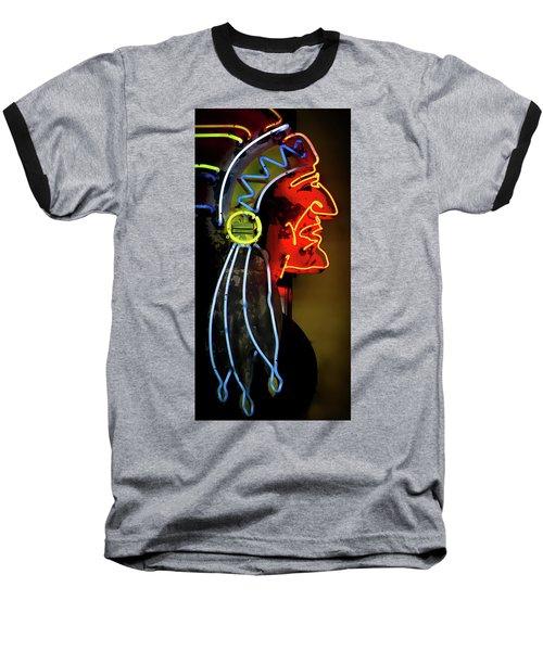 Neon Navajo Baseball T-Shirt by David Patterson