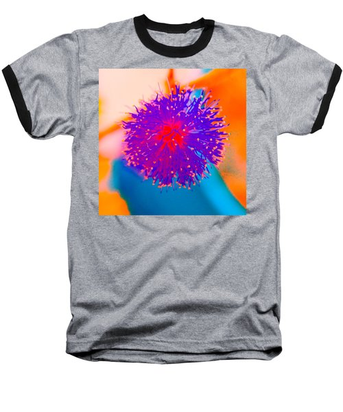 Neon Pink Puff Explosion Baseball T-Shirt