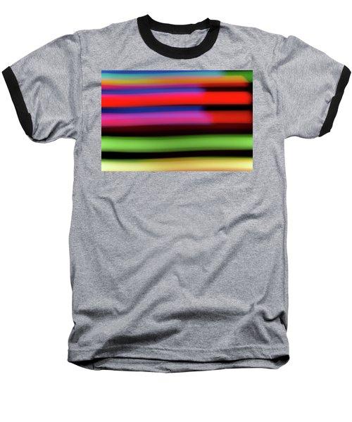Neon Stripe Baseball T-Shirt