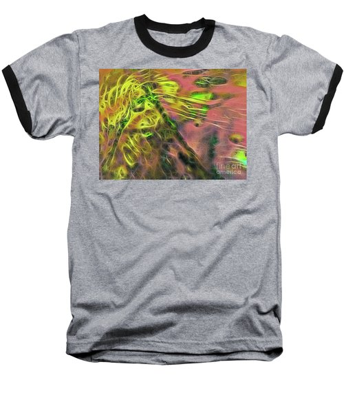 Neon Synapses Baseball T-Shirt by Todd Breitling