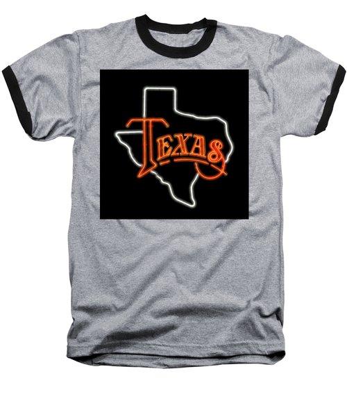 Baseball T-Shirt featuring the digital art Neon Texas by Daniel Hagerman